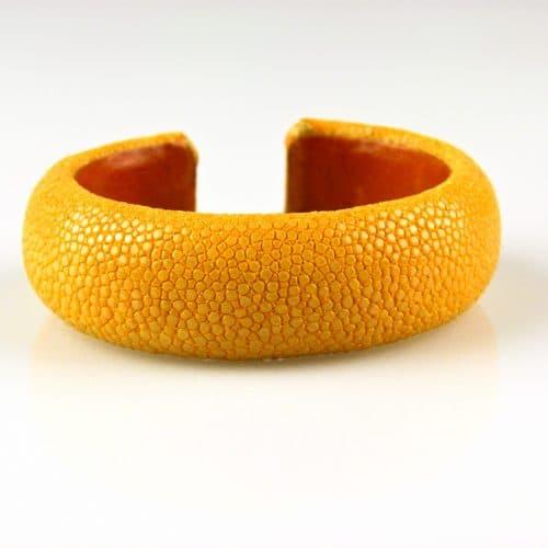 bracelet en cuir de raie galuchat 20 mm couleur sun