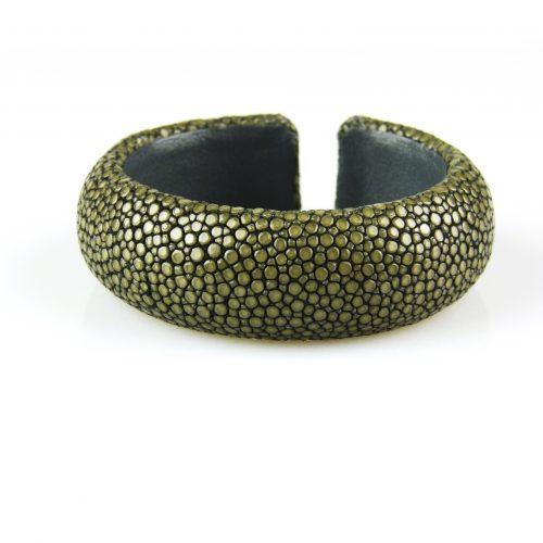 armband in roggeleder roggenhuid 20 mm breed grijs