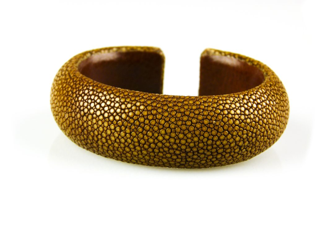 armband in roggeleder roggenhuid 20 mm breed caramel