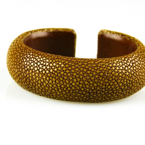 armband in roggeleder roggenhuid 20 mm breed caramel