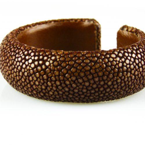 armband in roggeleder roggenhuid 20 mm breed bruin