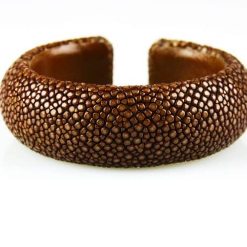 armband in roggenleder 20 mm breed kleur caramel - Fish and Wildlife Service van de Verenigde Staten