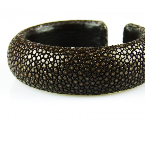 armband in roggeleder roggenhuid 20 mm breed donker bruin