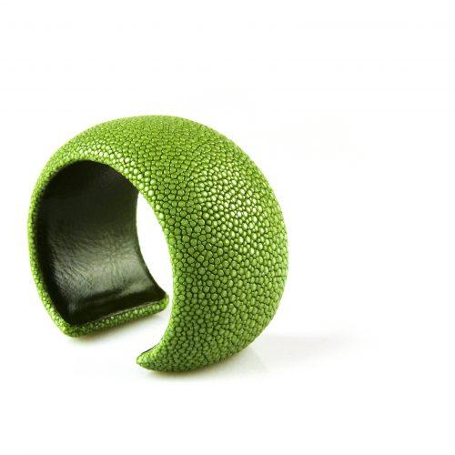 armband roggeleder roggehuid 40 mm breed kleur groen
