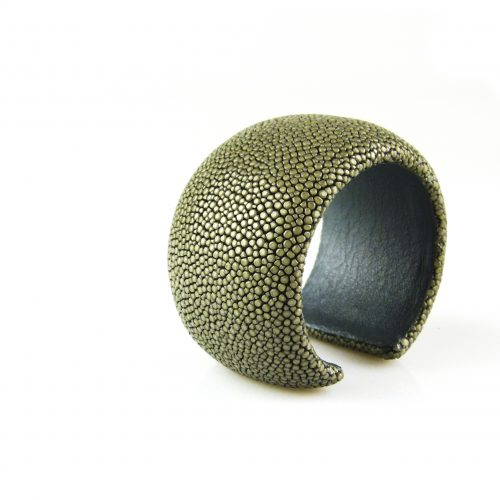 armband roggeleder roggehuid 40 mm breed kleur grijs