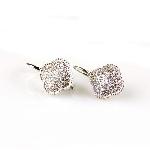 zilveren oorbellen gezet met cubic zirconia zilveren oorbellen gezet met cubic zirconia