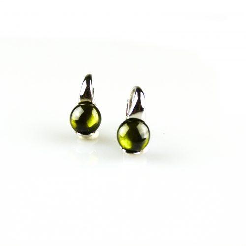 zilveren oorbellen groene steen zilveren oorringen groene steen