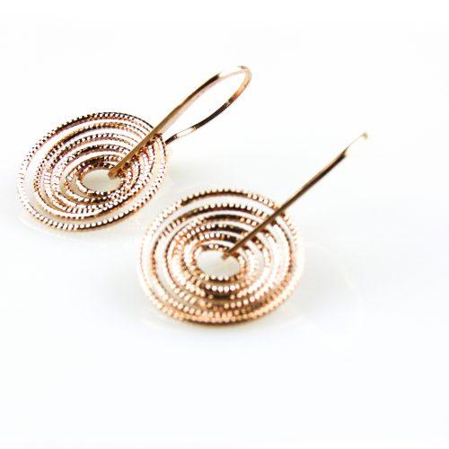 zilveren oorbellen roségoud verguld zilveren oorringen roségoud verguld
