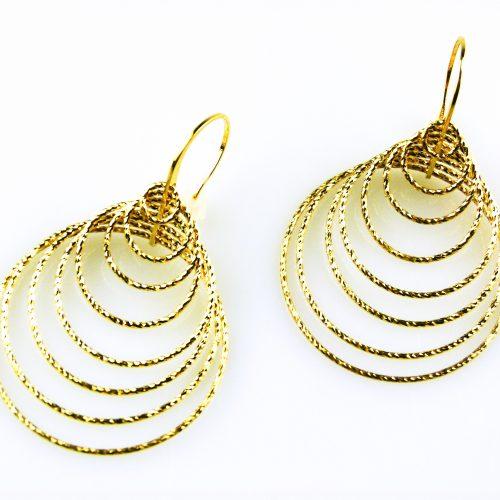 grote zilveren oorbellen geelgoud verguld grote zilveren oorringen geelgoud verguld