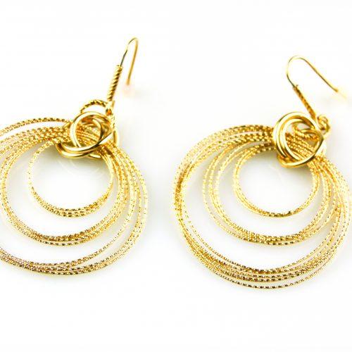 zilveren oorbellen geelgoud verguld zilveren oorringen geelgoud verguld