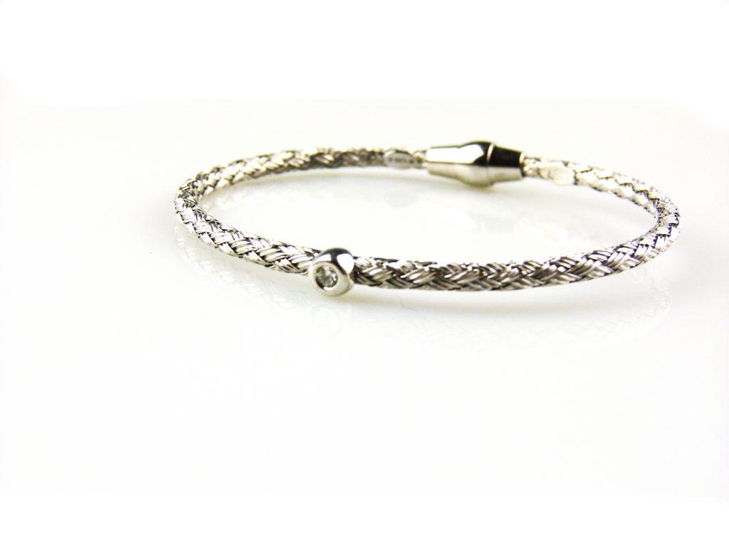 zilveren armband gezet met cubic zirconia