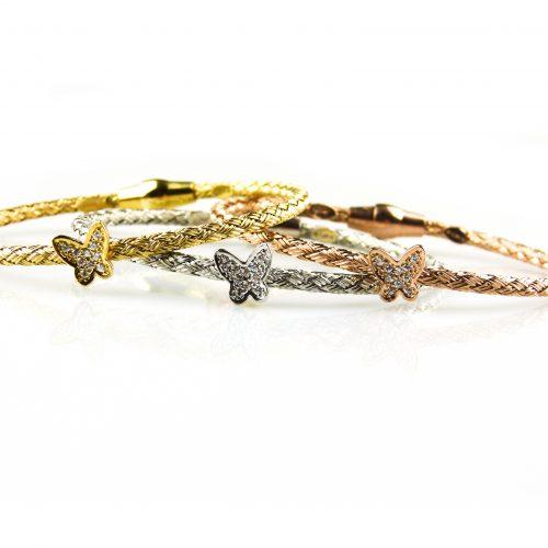 zilveren armbanden gezet met cubic zirconia