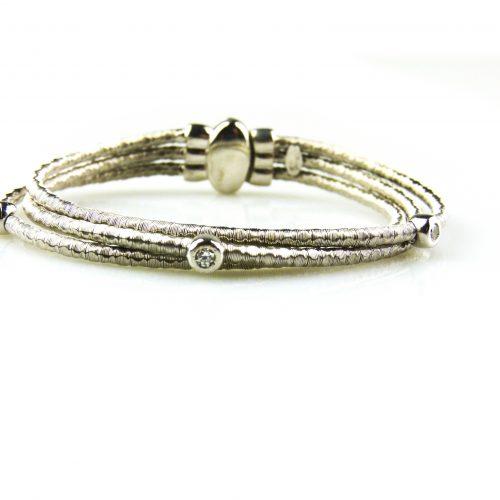 zilveren armband met cubic zirconia