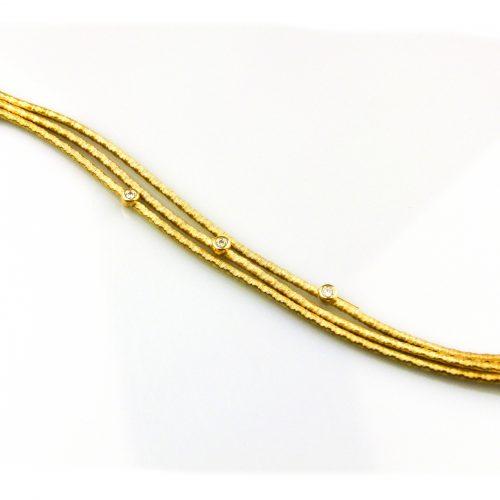 zilveren armband geelgoud verguld met cubic zirconia