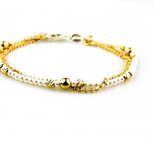 fijne zilveren armband geelgoud verguld