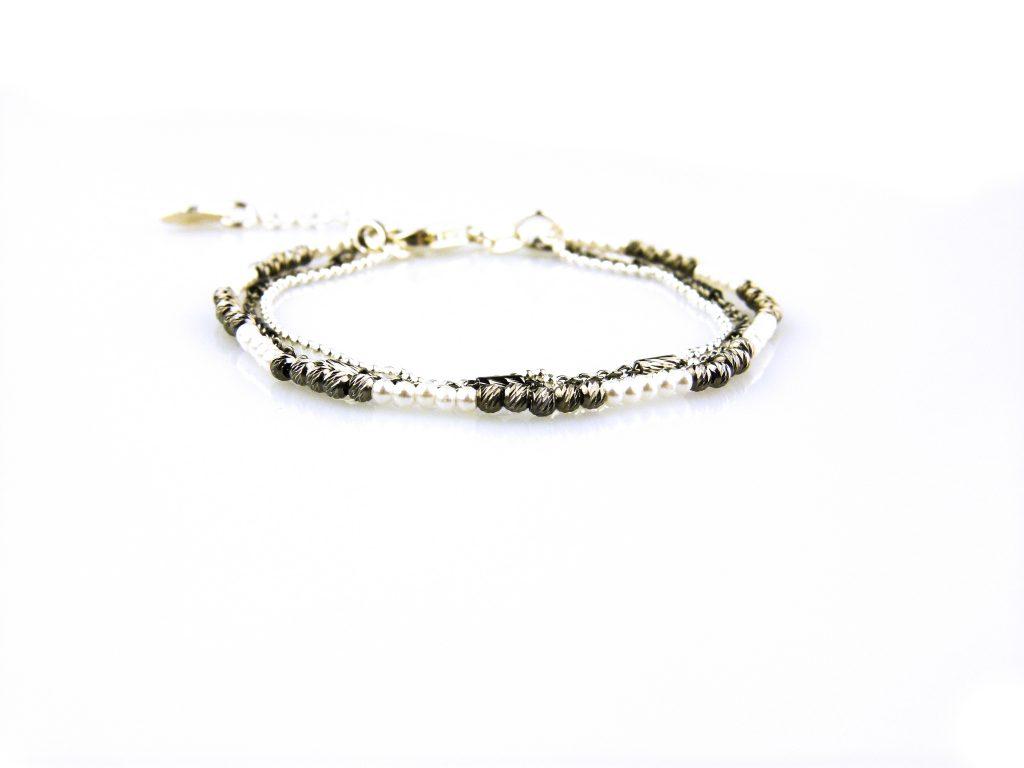 fijne zilveren armband 3 rijen