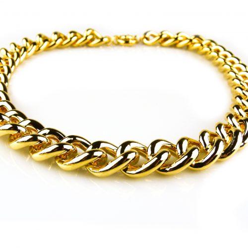ketting geelgoud verguld brons
