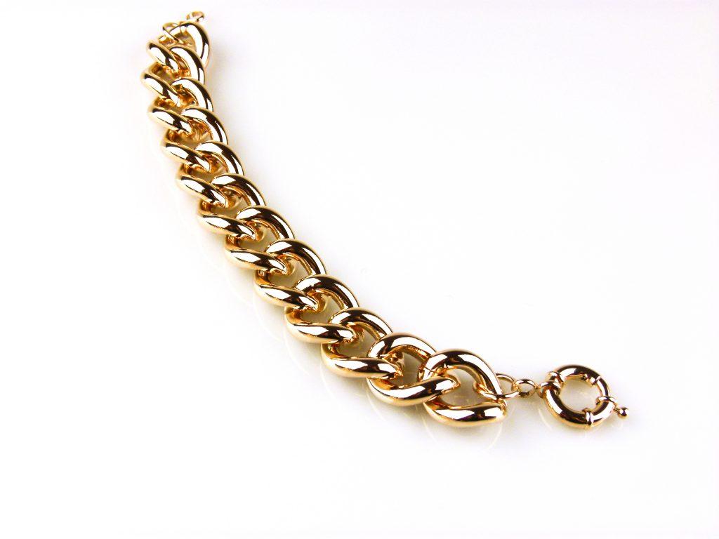 armband roségoud verguld brons