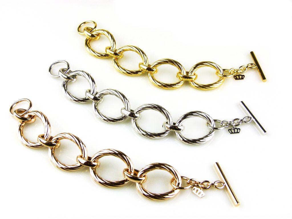 armbanden geelgoud verguld zilverkleurig roségoud verguld brons