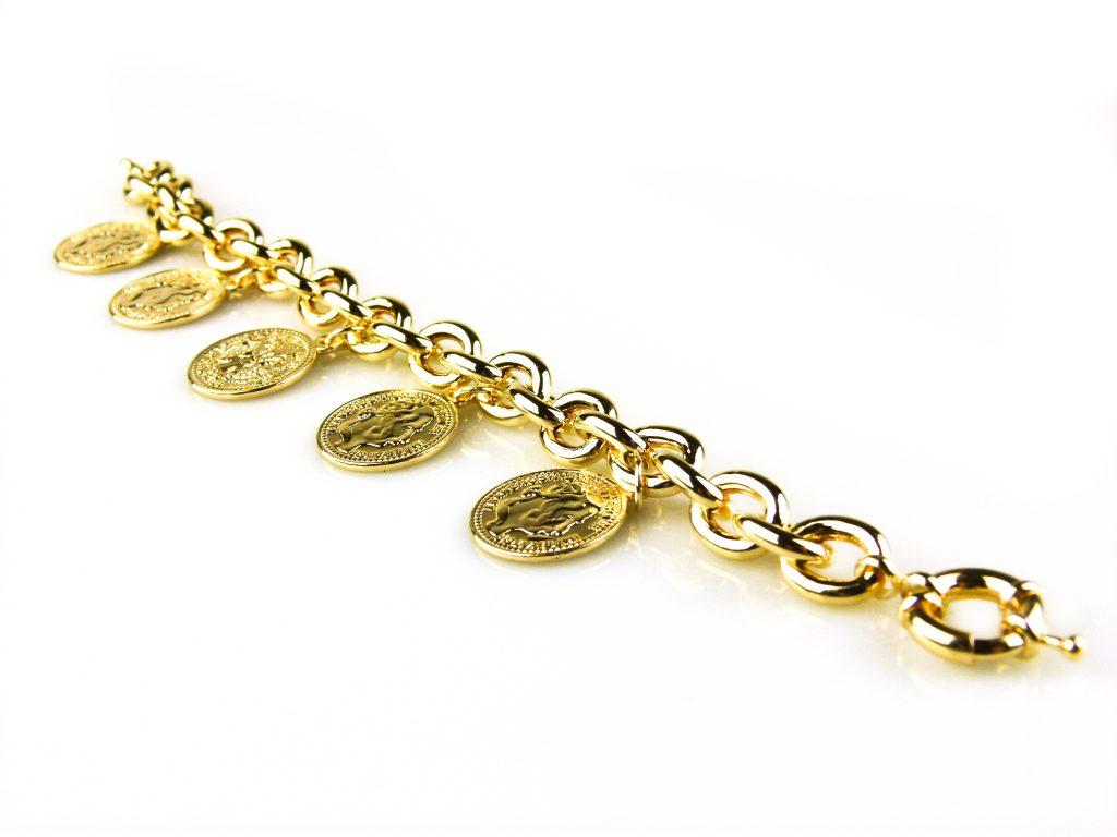 armband geelgoud verguld brons