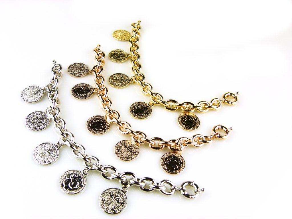 armbanden zilverkleurig geel goud verguld roségoud verguld brons