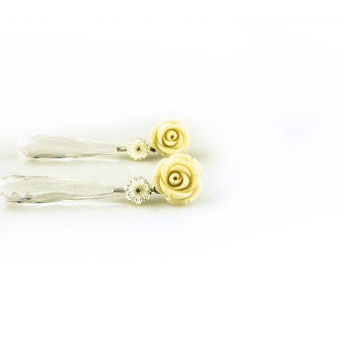 oorbellen oorringen in wit goud gezet met bergkri