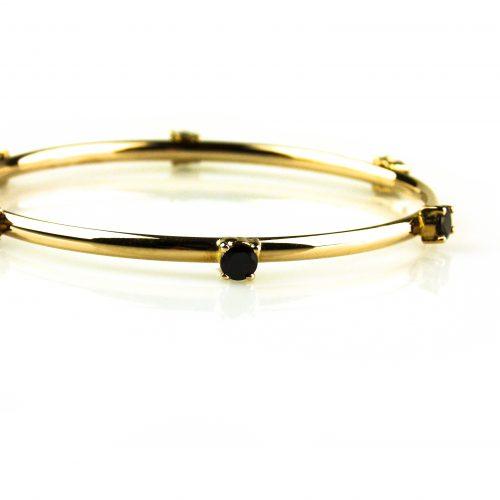 armband in roos goud gezet met rookkwarts