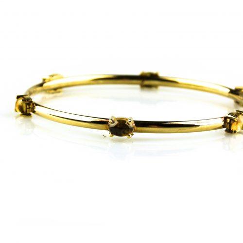 armband in geel goud gezet met citrien