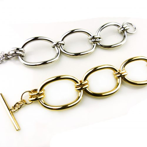 armband in brons zilverkleurig goudkleurig