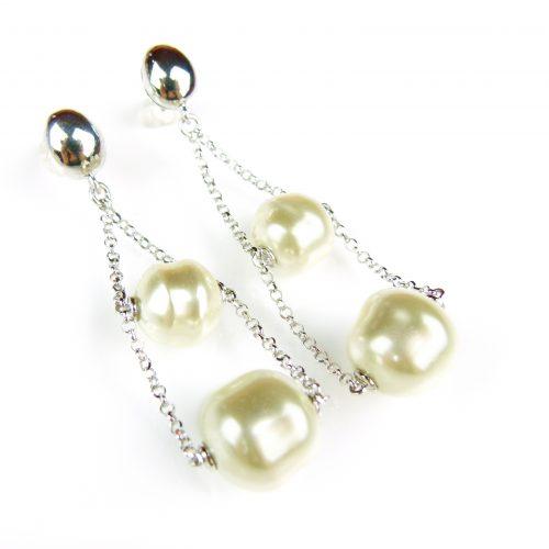 zilveren oorringen oorbellen met parels
