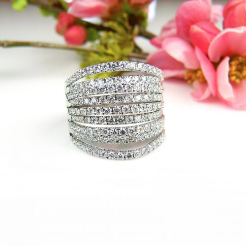 wit gouden ring met diamant