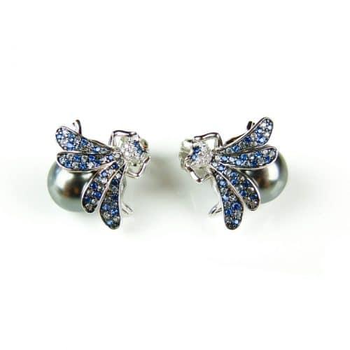 zilveren oorringen oorbellen vlieg