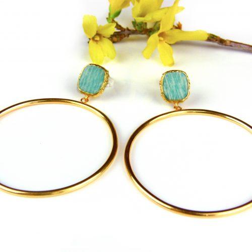 zilveren oorringen creolen oorbellen geel goud verguld